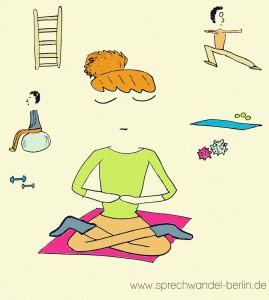 Körperhaltung, Atmung, Stimme